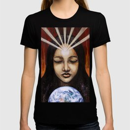 Shine Your Light for the World to See // Visionary Art Spirit Soul Consciousness Chakra Third Eye T-shirt