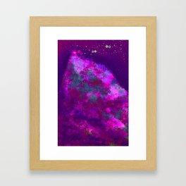 """Cellular Migration"" (Pink/Purple/Green) Digital Painting // Fine Art Print Framed Art Print"