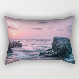 Ocean landscape at sunset Rectangular Pillow