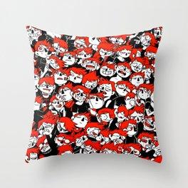 CATHARTIKA (red) Throw Pillow