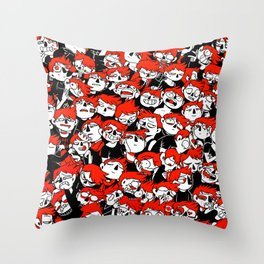 CATHARTIKA (red) Throw Pillow