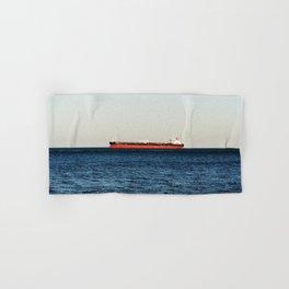 Cargo Ship Seascape Hand & Bath Towel