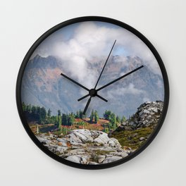 CLOUDS RISING ON MOUNT SEFRIT Wall Clock