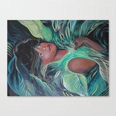 On Living Green Canvas Print