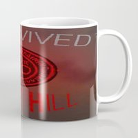 silent hill Mugs featuring I Survived Silent Hill by thegamingmuse