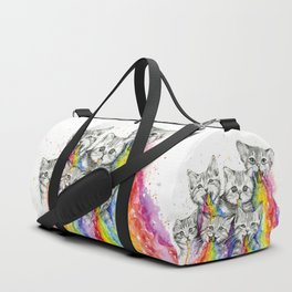 Kittens Puking Rainbows Duffle Bag