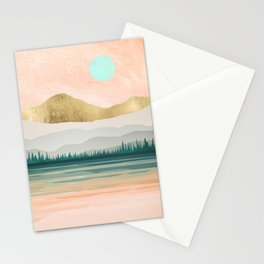 Spring Forest Lake Stationery Cards