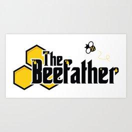 The Beefather - Bee Honey Beekeeper Honeycombs Art Print