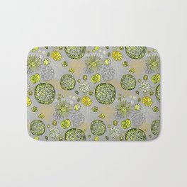 Algae mix Bath Mat