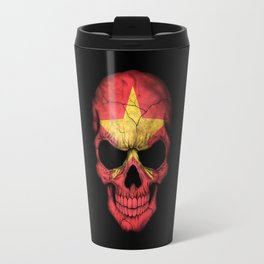 Dark Skull with Flag of Vietnam Travel Mug