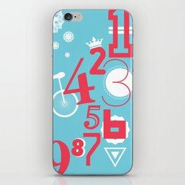123... iPhone Skin