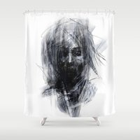 silent Shower Curtains featuring Silent by Gyossaith