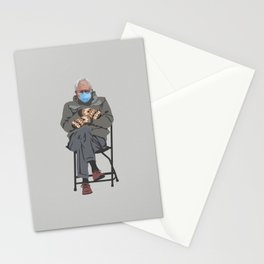 Bernie in Mittens-gray Stationery Cards