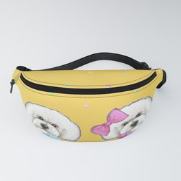 Bichon Frise Holidays yellow cute dogs, Christmas gift, holiday gift, birthday gift, dog, Bijon Fanny Pack