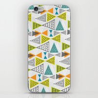 mid century modern iPhone & iPod Skins featuring Geometric Mid Century Modern  Triangles by Ryan Deighton