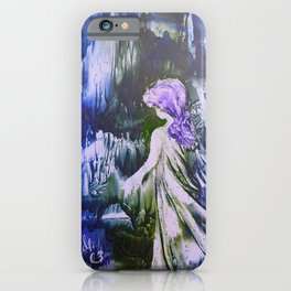 Lost Girl 2 - Blue Forest iPhone Case