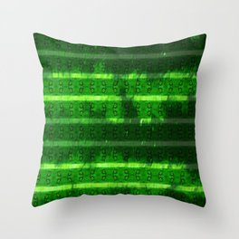 Metal Watermelon Rind Throw Pillow
