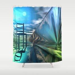 Der leere Stuhl Shower Curtain