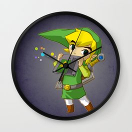 """ocarina"" of time / zelda / Link Wall Clock"