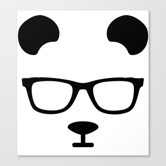 Nerd Panda Canvas Print