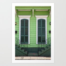 Green Creole Cottage Art Print