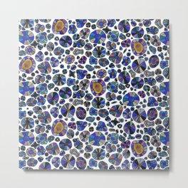 Barca Dots Pattern blue/purple Metal Print
