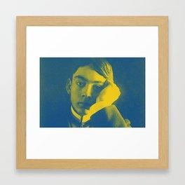 Kahlil Gibran in green Framed Art Print