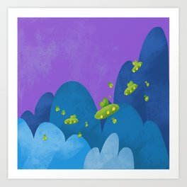Voyage Over the Mountain Art Print