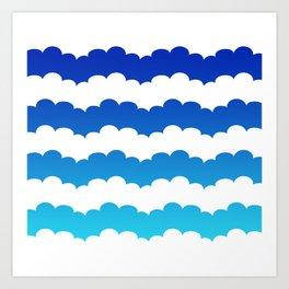 Sky Stripes Art Print