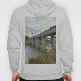 1874-Claude Monet-The Railroad bridge in Argenteuil -54 x 71 Hoody