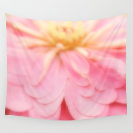 Abstract Pink and Yellow Flower  Wall Tapestry