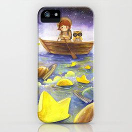 Floating stars iPhone Case
