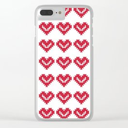 VALENTINE CROSSES Clear iPhone Case