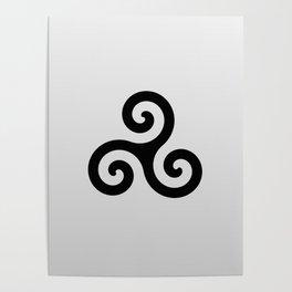 grey triskele Poster