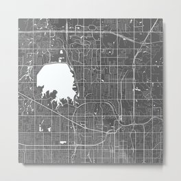 North Oklahoma USA Modern Map Art Print Metal Print