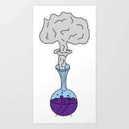 Chemical Reaction Art Print