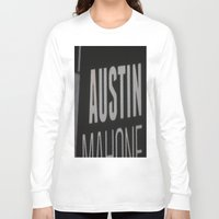 austin Long Sleeve T-shirts featuring Austin Mahone by Halle