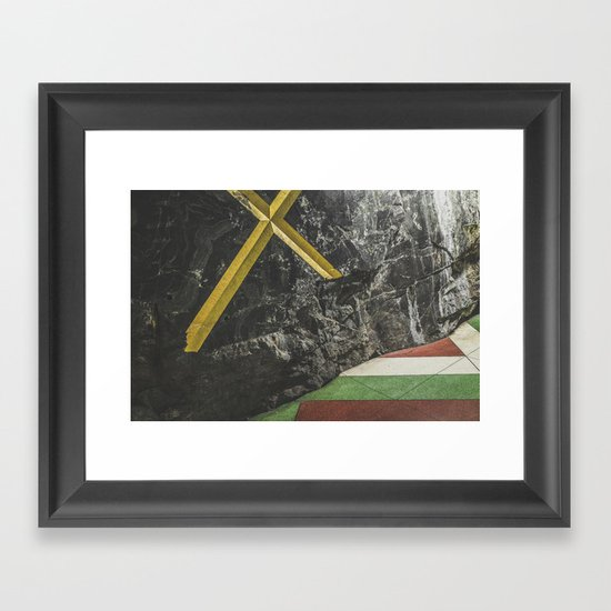 Stockholm Subway Framed Art Print