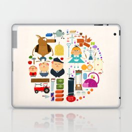 Alice in wonderland + Three Little Pigs aka ALIPIGS Laptop & iPad Skin