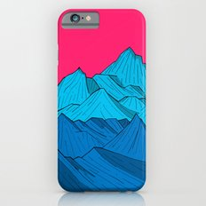 Mountains under the pink sky iPhone 6s Slim Case
