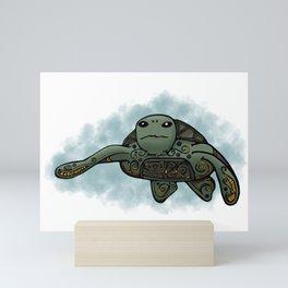 Loggerhead Sea Turtle Mini Art Print