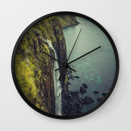 Ocean Waterfall Wall Clock