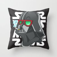 darth Throw Pillows featuring Darth by Octofly Art