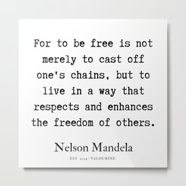 7   | Nelson Mandela  Quotes | 190818 Metal Print