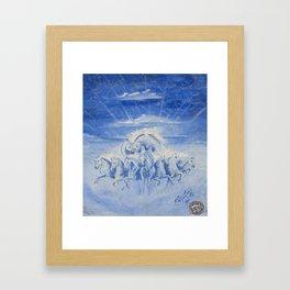 Blue Sky Horses Felipe Orozco Framed Art Print