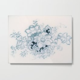 Vintage Flower Flow Metal Print