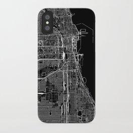 Chicago Black Map iPhone Case