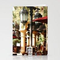 arab Stationery Cards featuring Dubai Lamps outside Burj Al Arab by gdesai