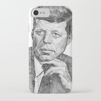 jfk iPhone & iPod Cases featuring JFK by Monifa Charles