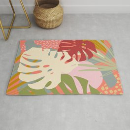 Monstera Party #tropicalvibes Rug